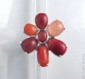 Кольцо с речными камнями
