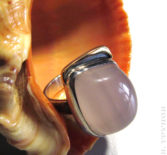 Кольцо с халцедоном