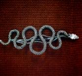 Брошь в виде змеи