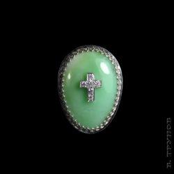 Кольцо с хризопразом к Пасхе