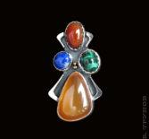 Кулон с цветными камнями